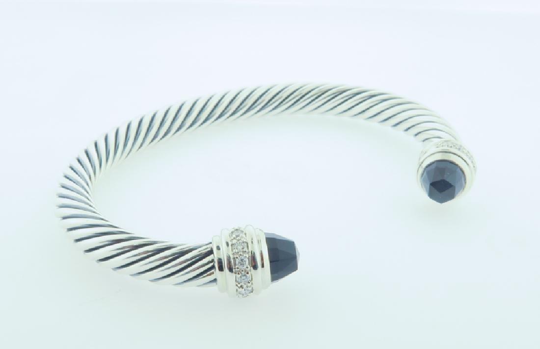 david yurman serling bracelet w/ diamonds - 3