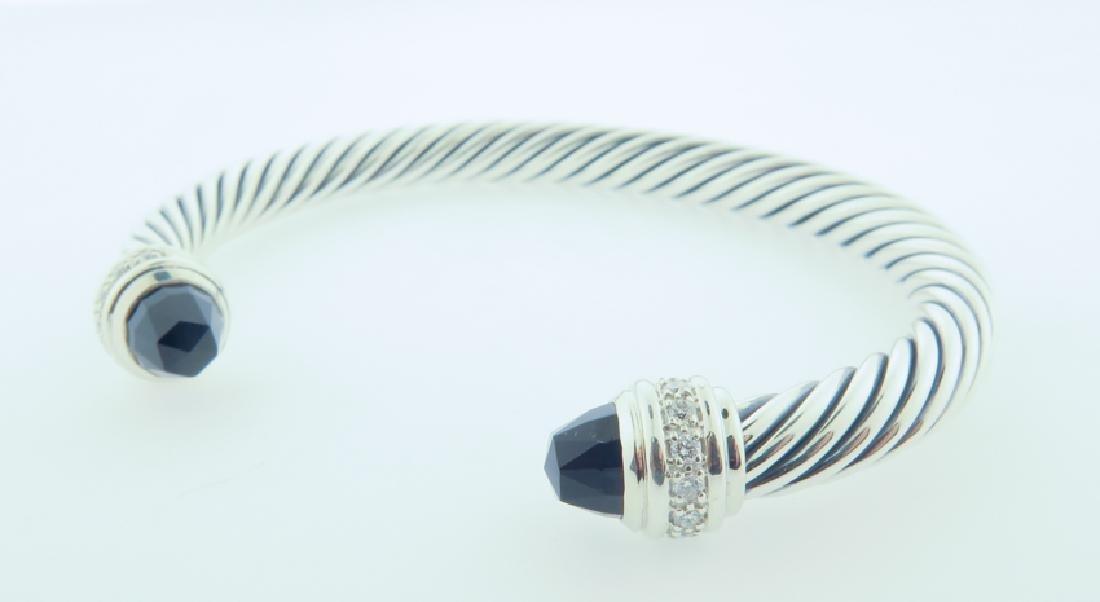 david yurman serling bracelet w/ diamonds - 5