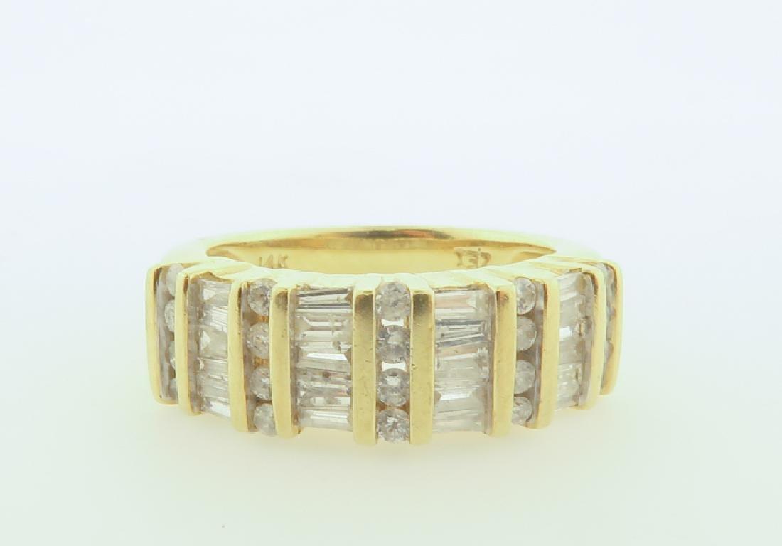 ring 14k  with diamonds cut