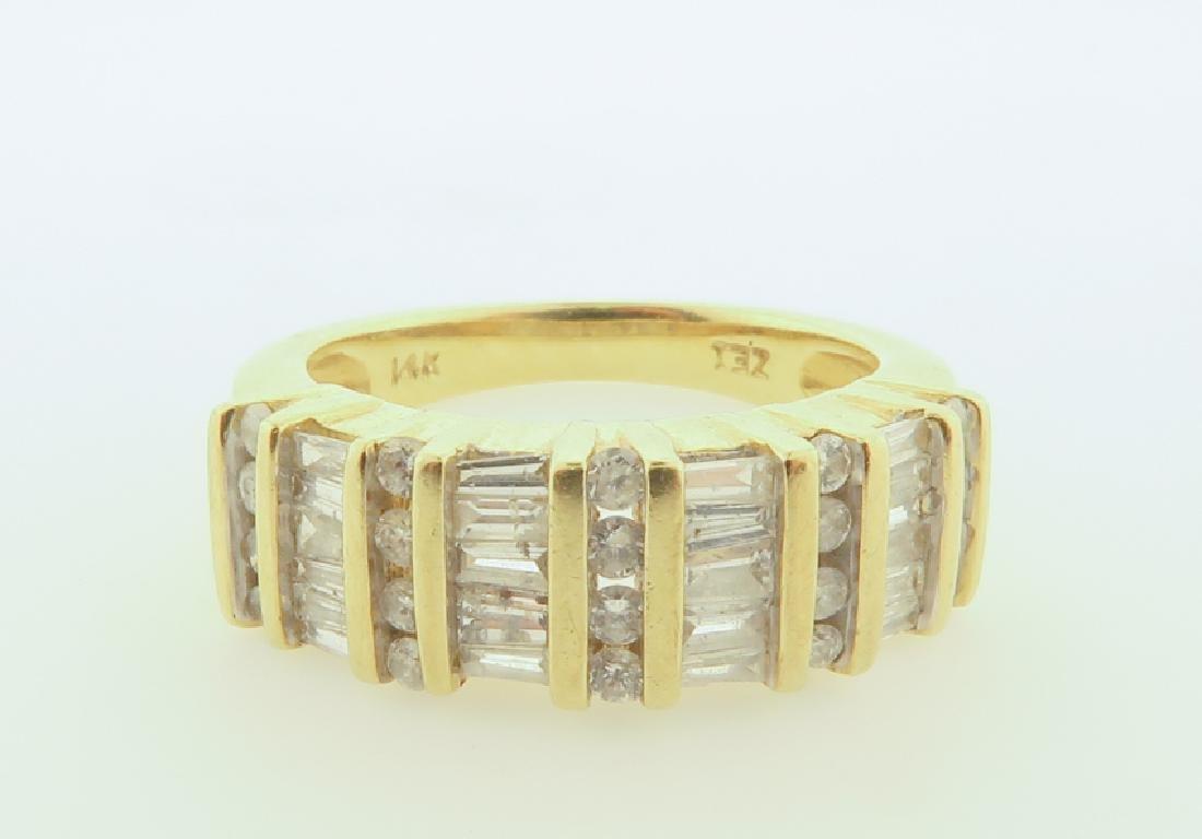 ring 14k  with diamonds cut - 2