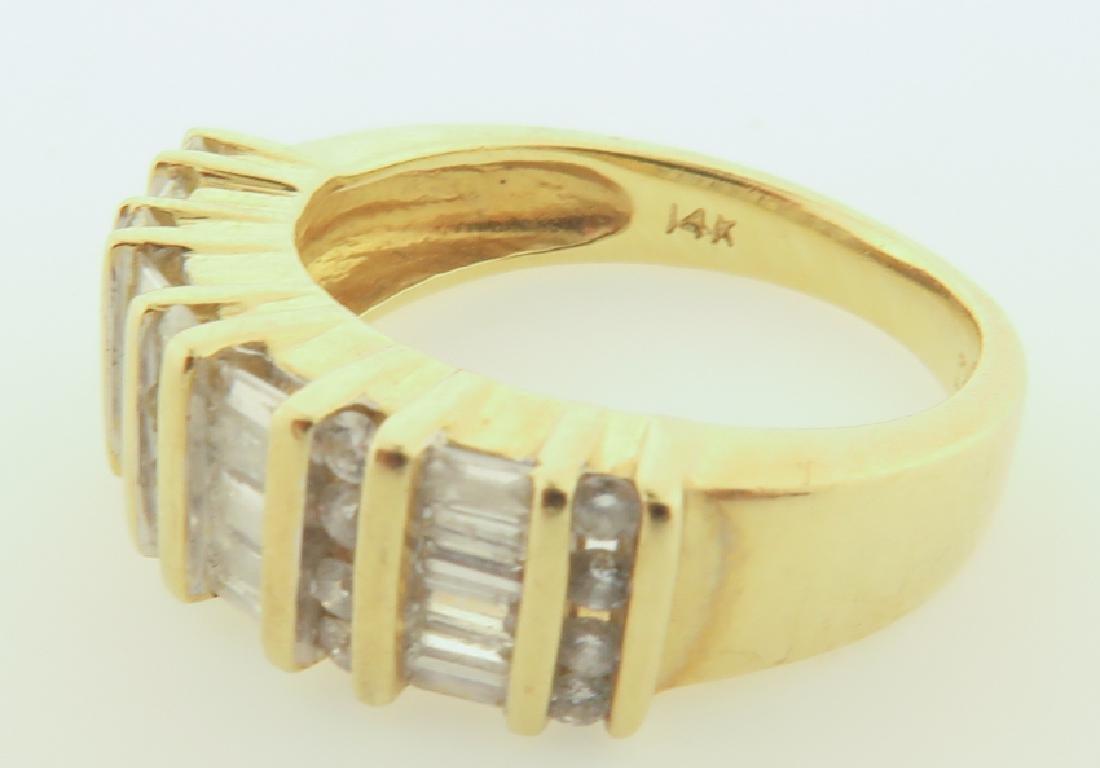 ring 14k  with diamonds cut - 3