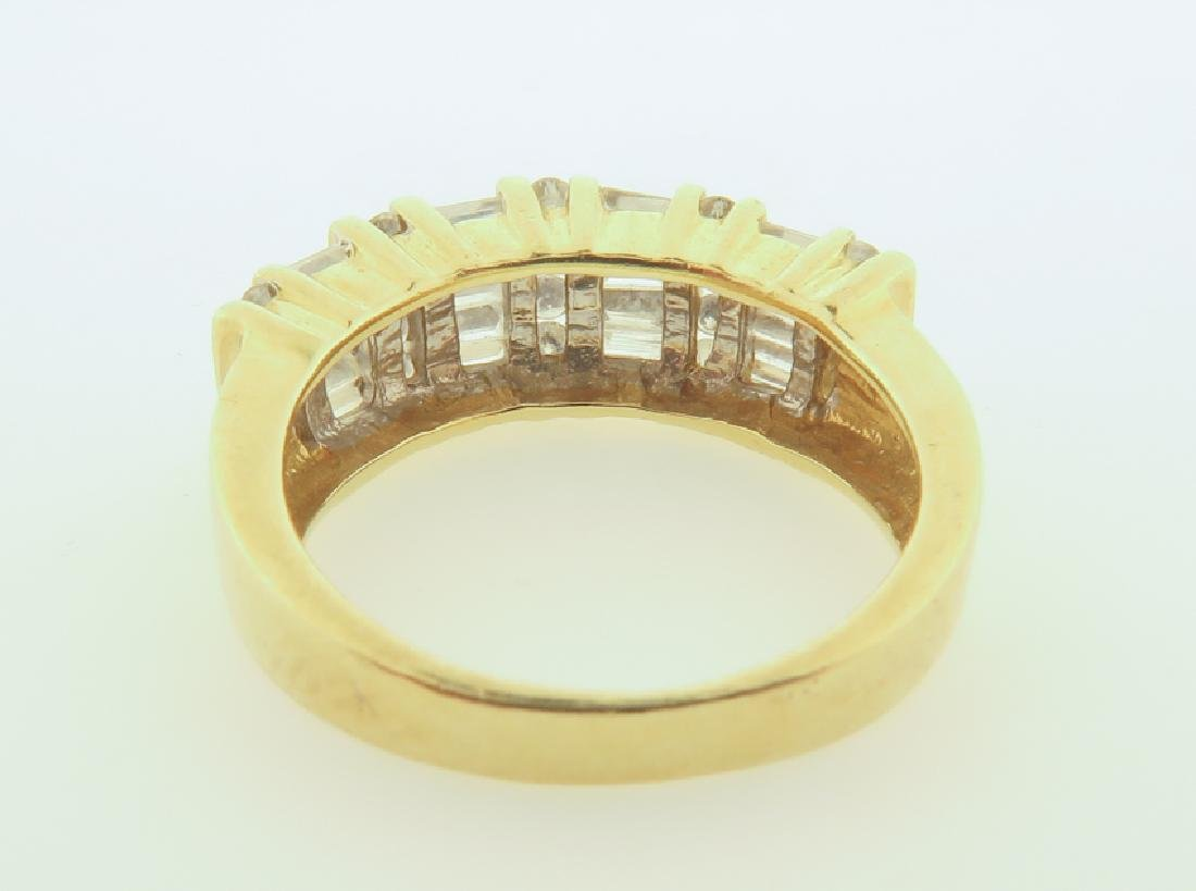 ring 14k  with diamonds cut - 4