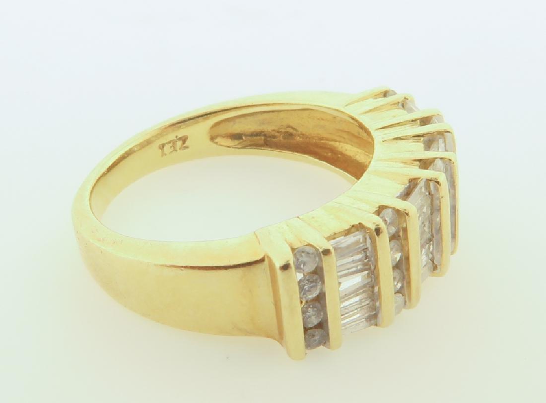 ring 14k  with diamonds cut - 5