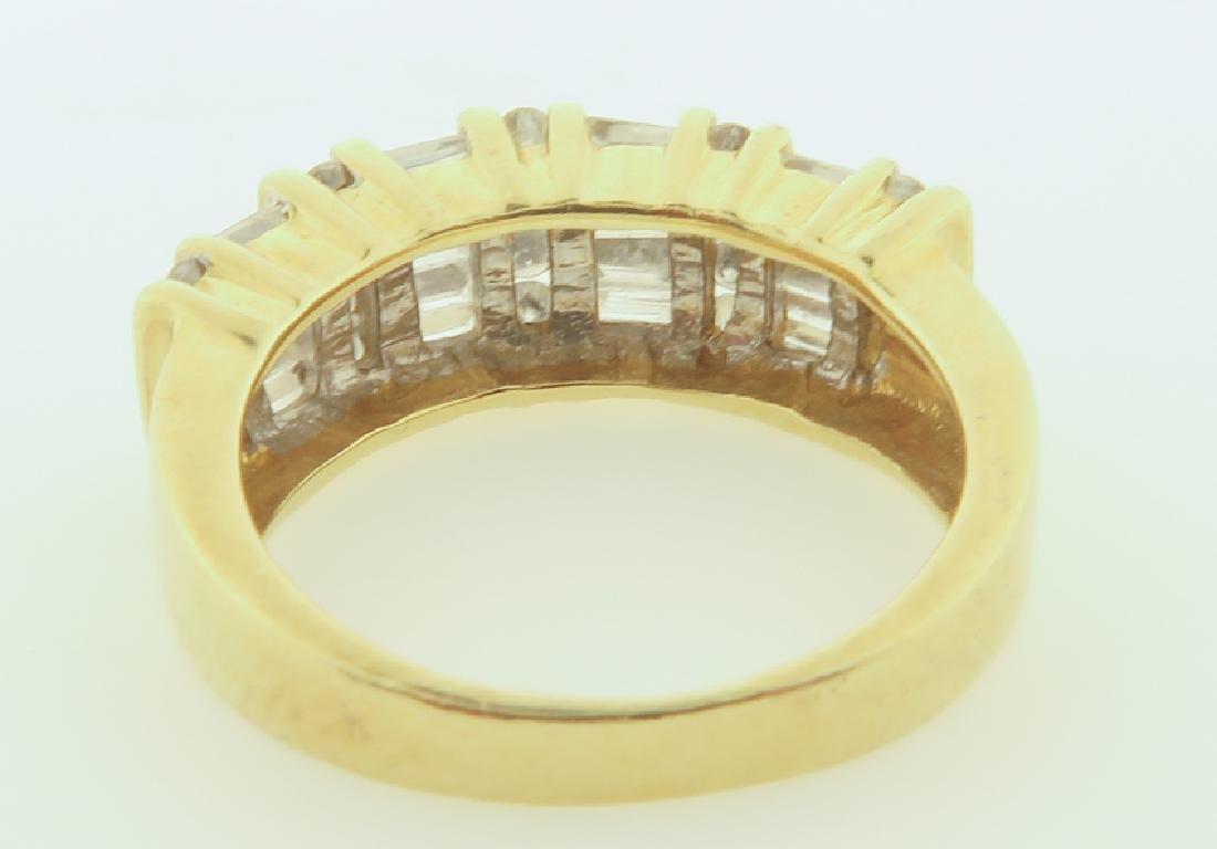 ring 14k  with diamonds cut - 6