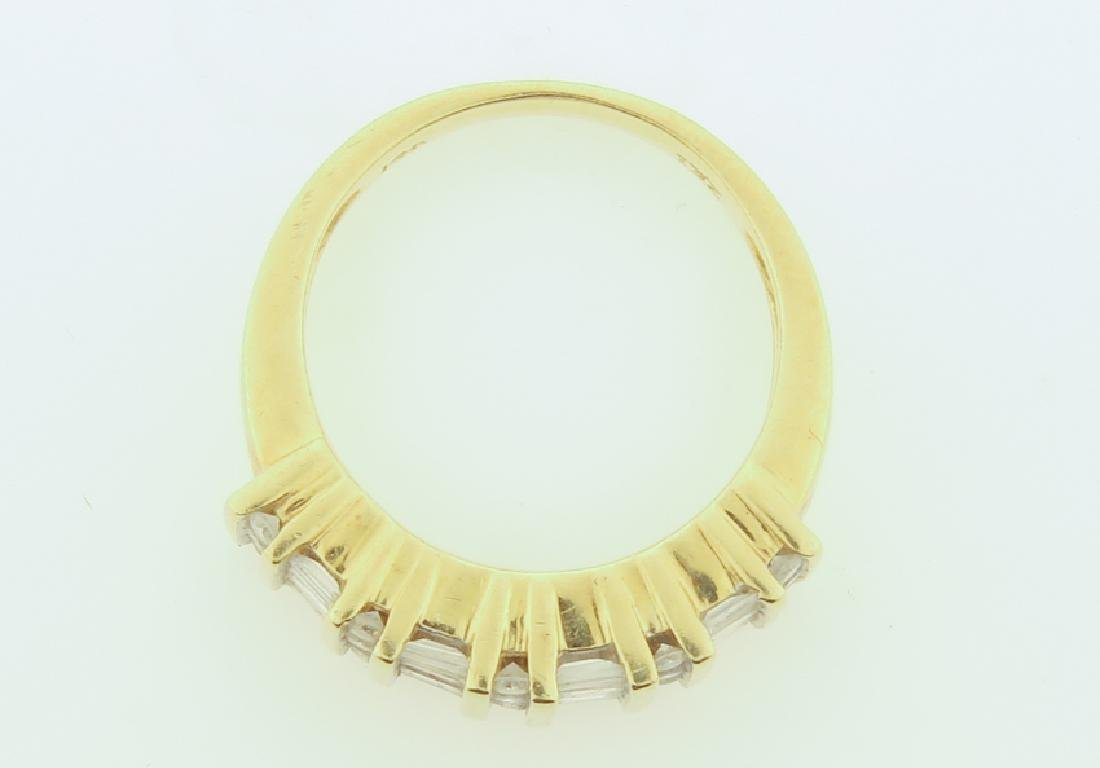 ring 14k  with diamonds cut - 7