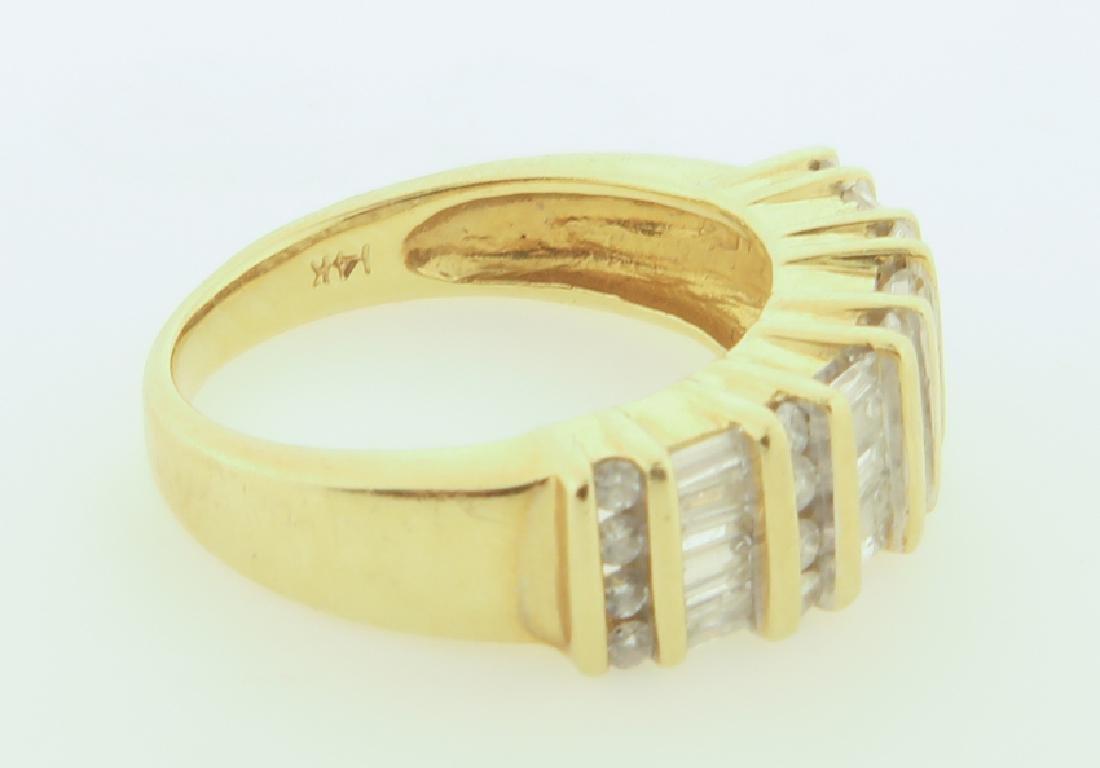 ring 14k  with diamonds cut - 8