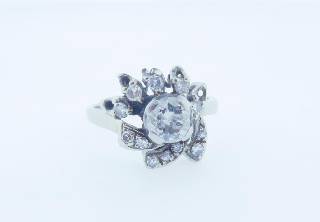 diamond 14k ring - 5