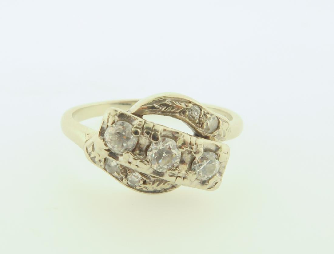 diamond ring 14kgold - 2
