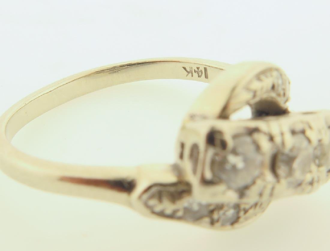 diamond ring 14kgold - 4