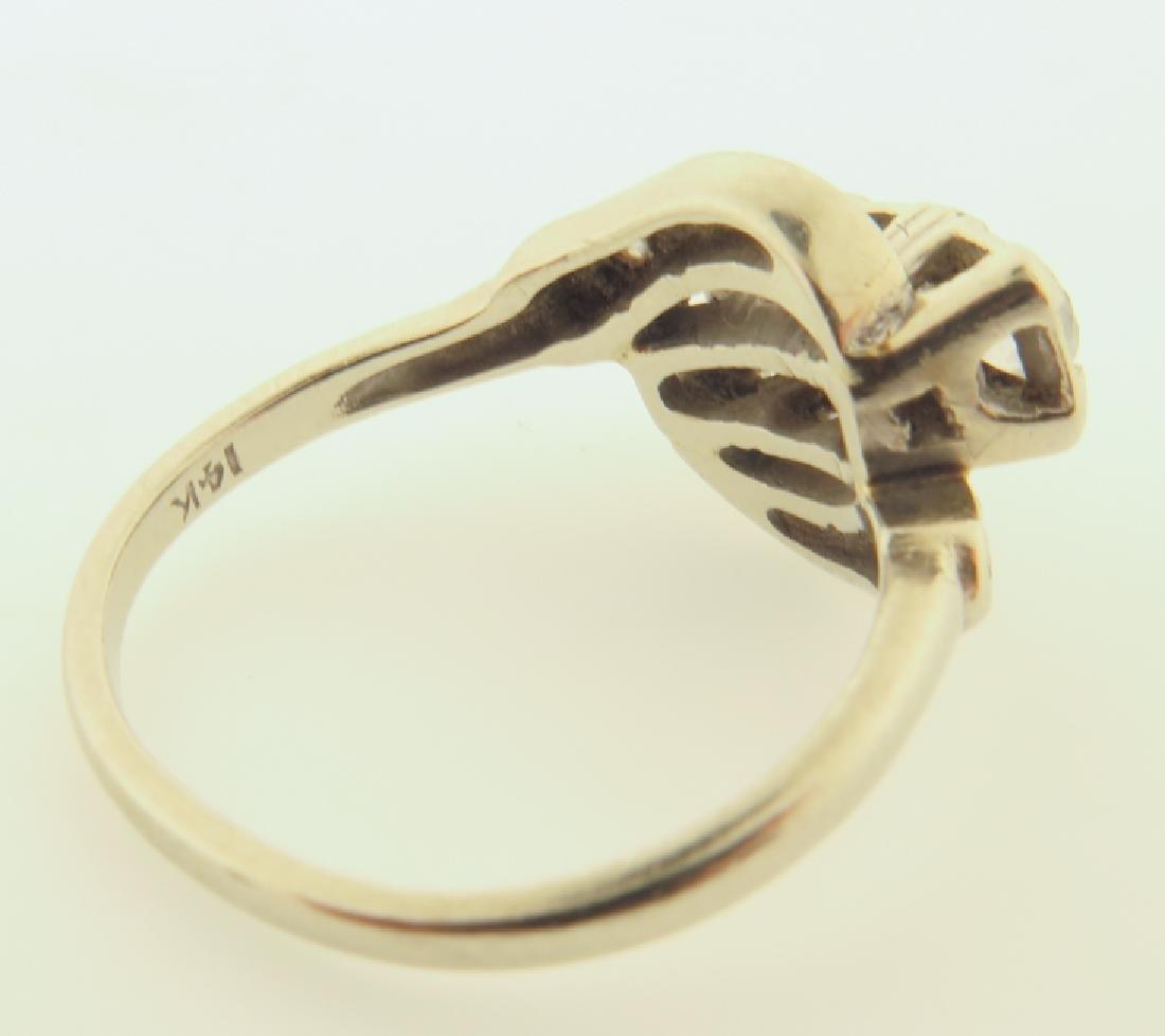 diamond ring 14kgold - 5