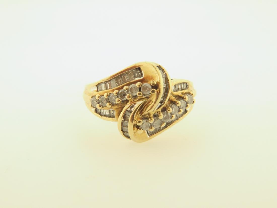 diamond ring 10k gold - 2