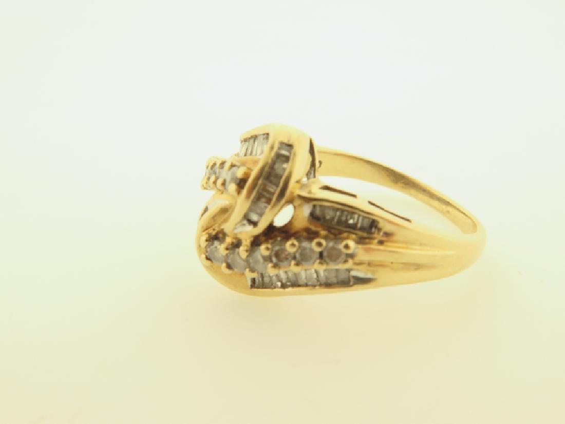 diamond ring 10k gold - 3