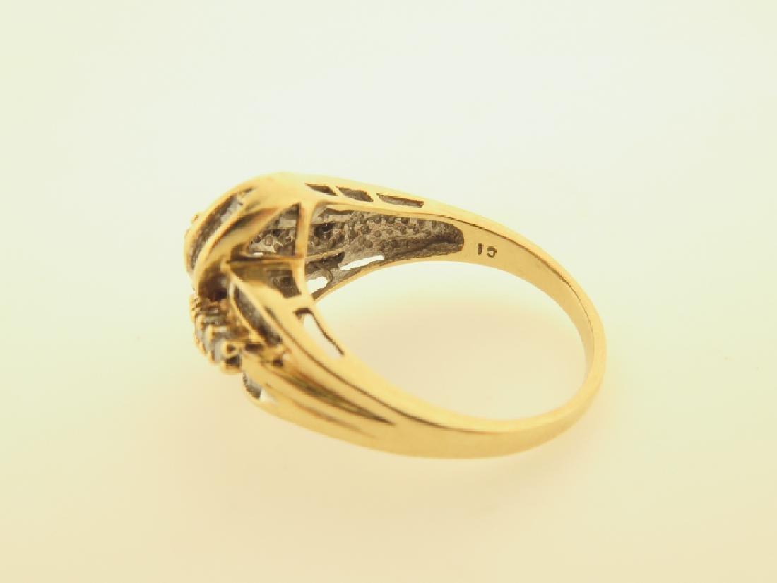 diamond ring 10k gold - 4