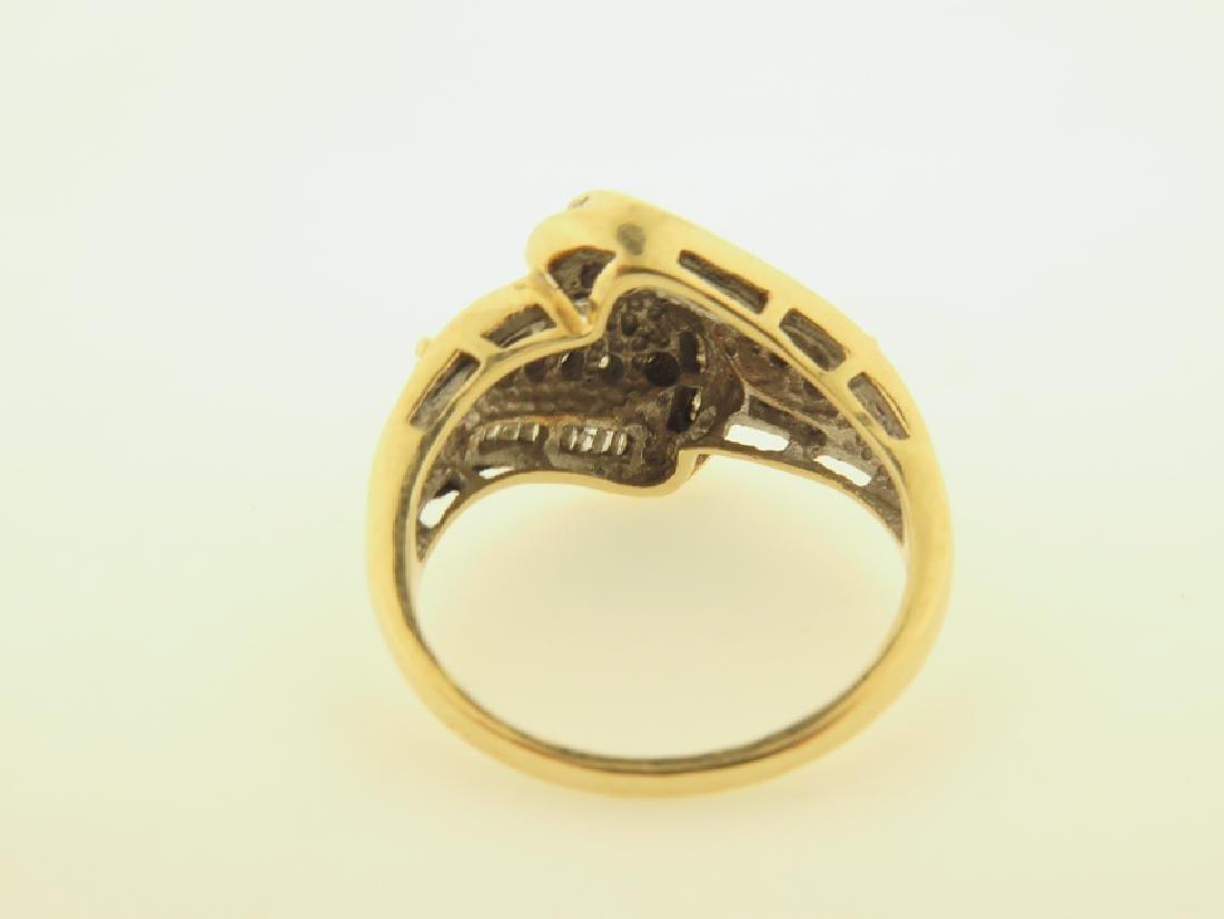 diamond ring 10k gold - 5
