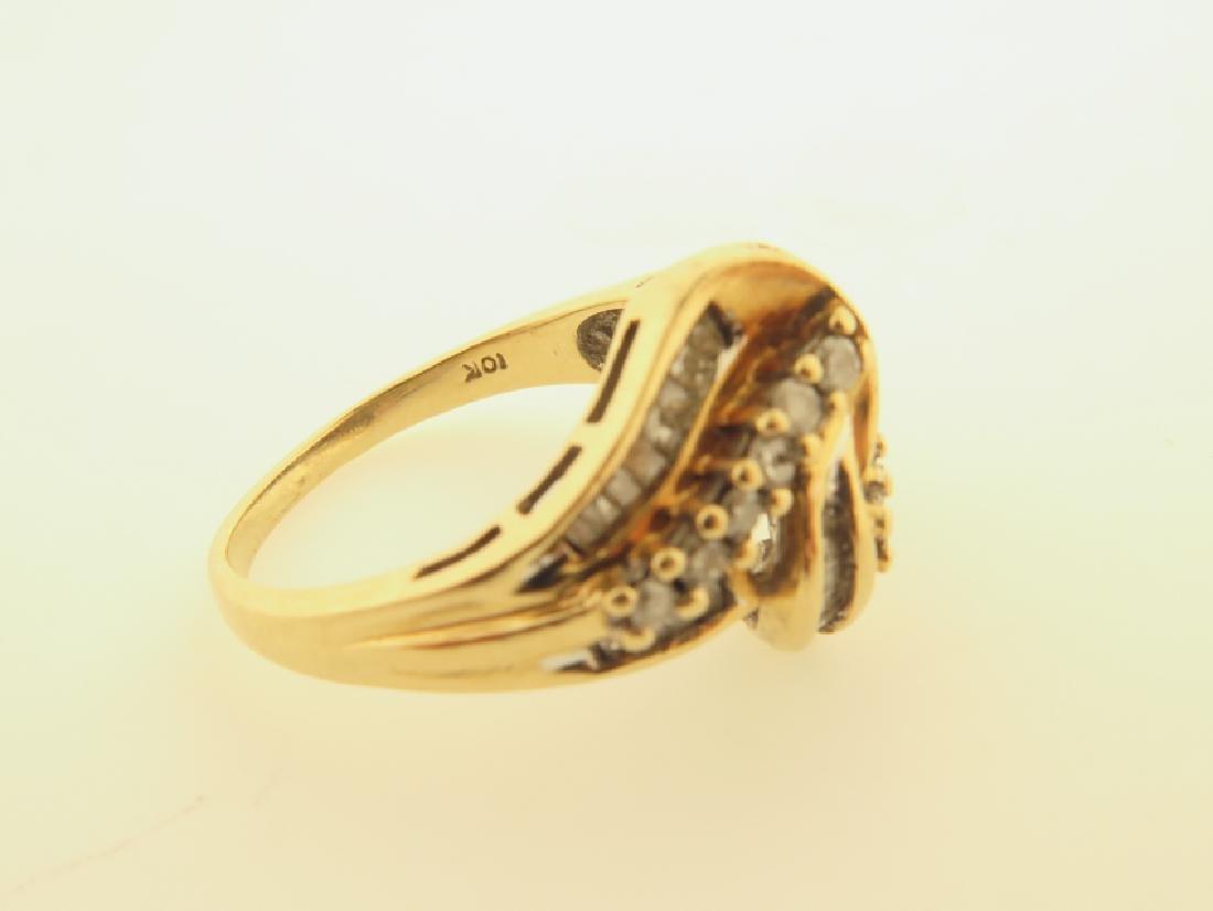diamond ring 10k gold - 6