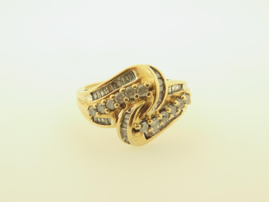 diamond ring 10k gold - 7