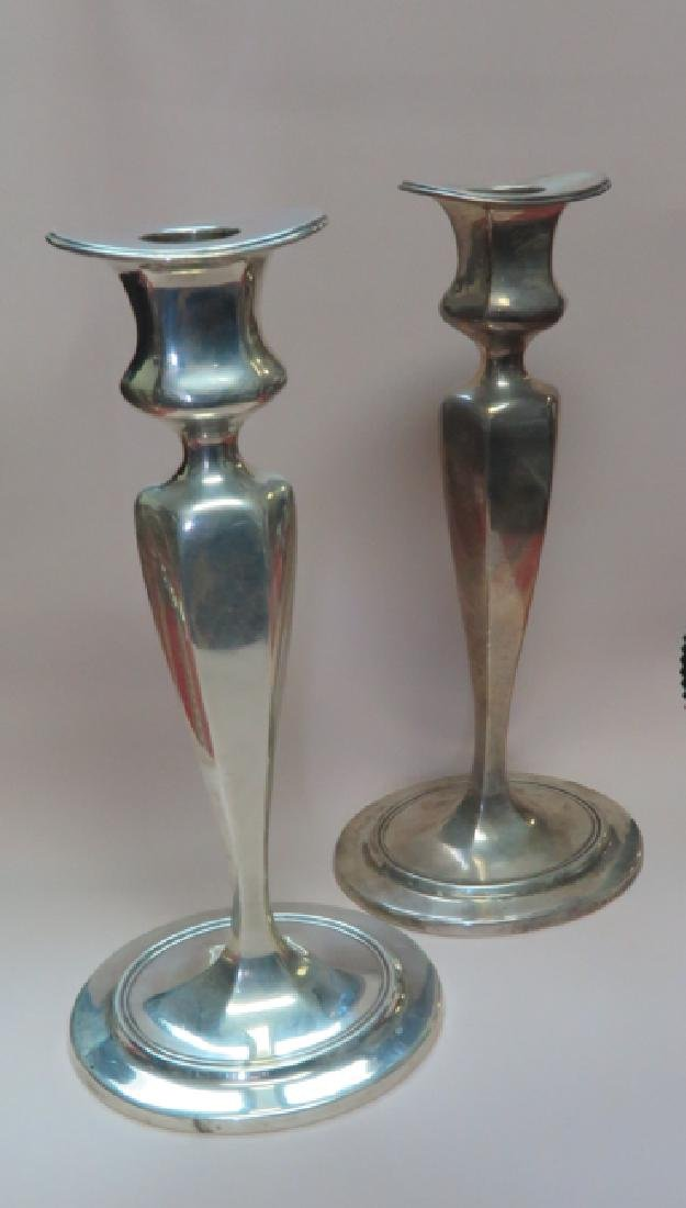 tiffany pair of candle stick sterling