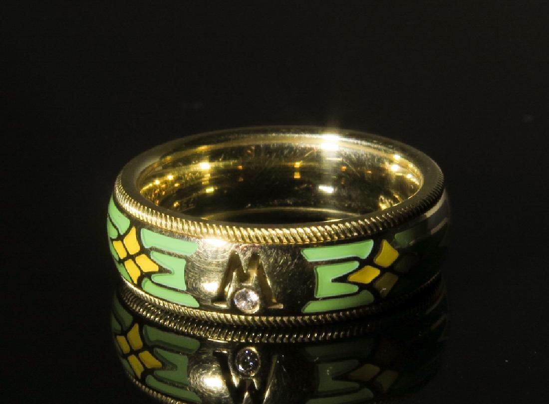 A Men 's 18k gold Emanuel Wellendorff Ring - 2