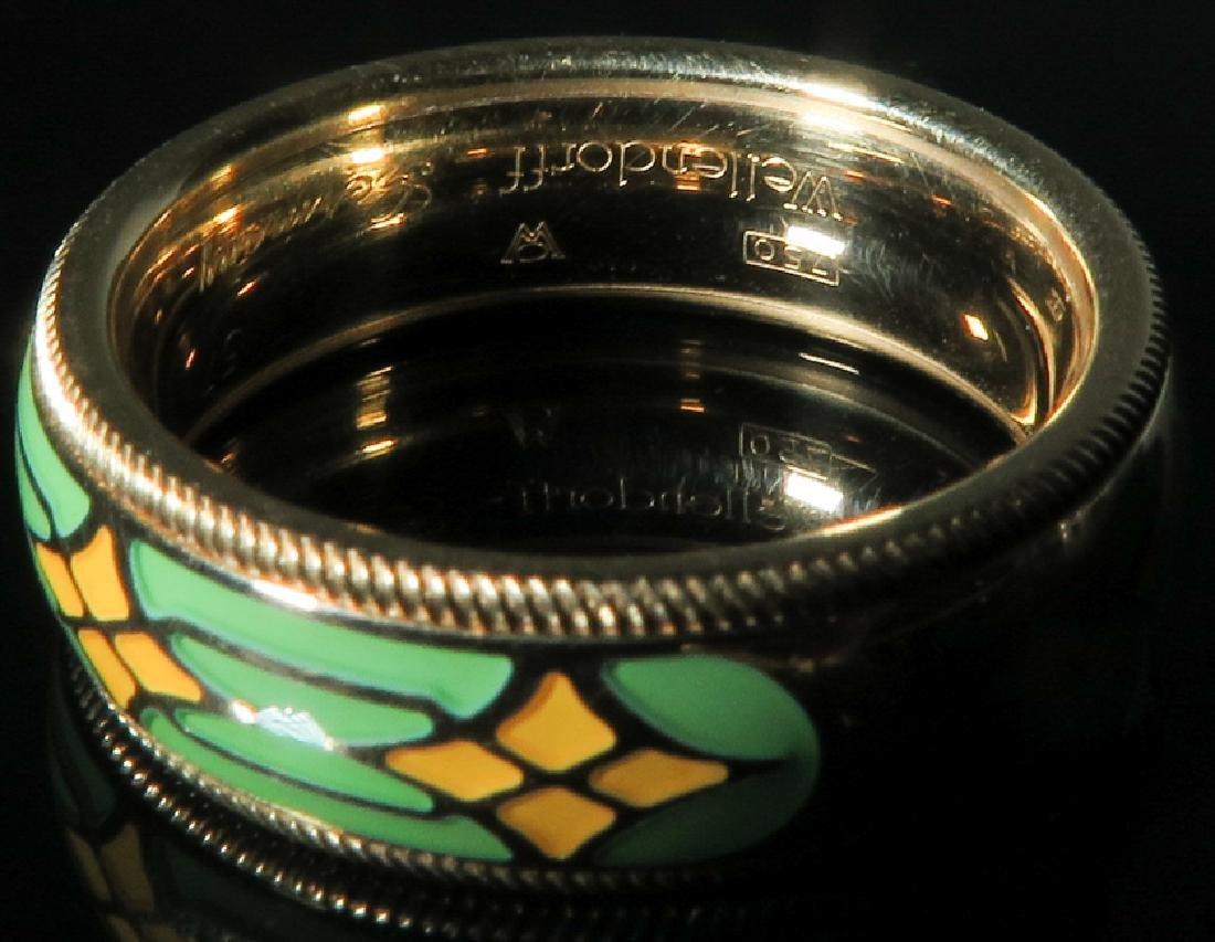 A Men 's 18k gold Emanuel Wellendorff Ring - 3