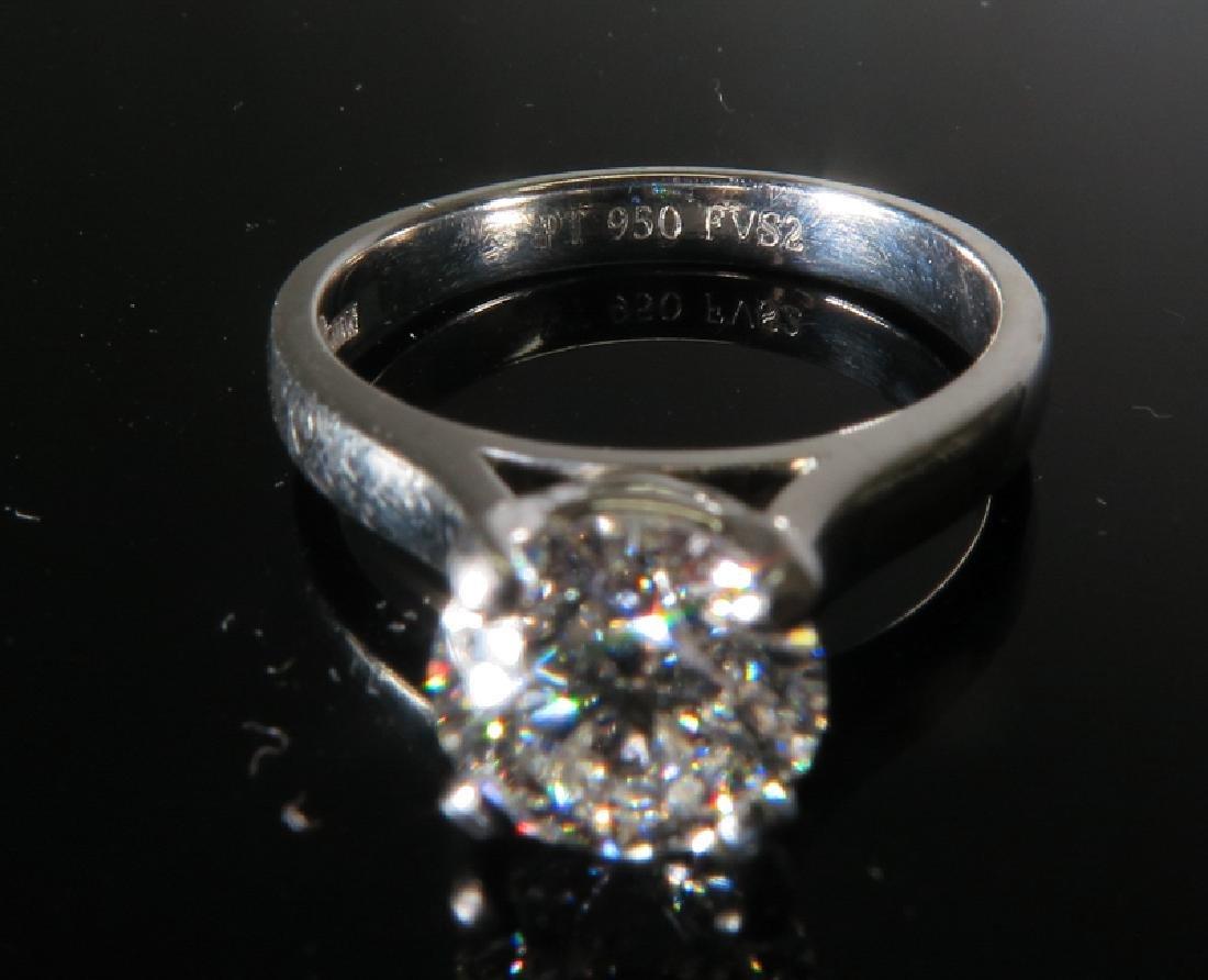 A Platinum Diamond Ring - 3