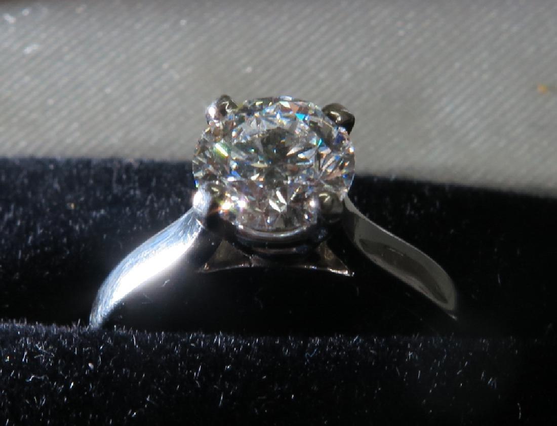 A Platinum Diamond Ring - 4