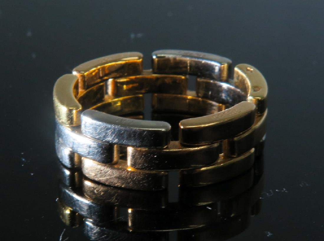 Cartier tri-color gold Men's ring - 2