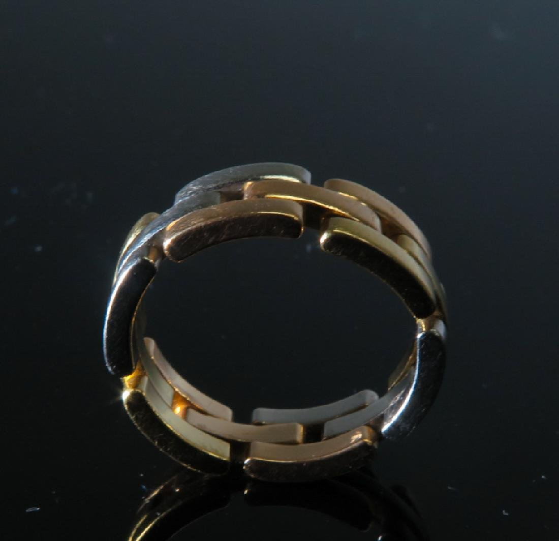 Cartier tri-color gold Men's ring - 3