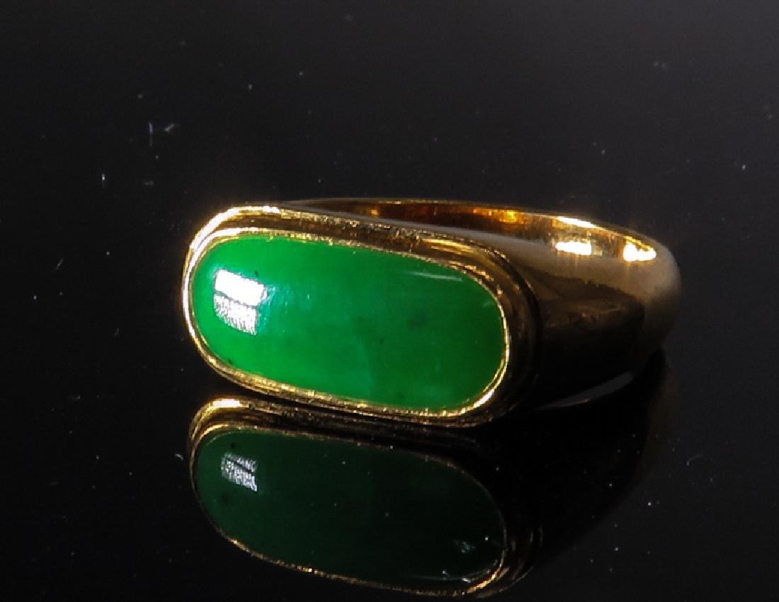 jadeite Ring in 24k Yellow Gold