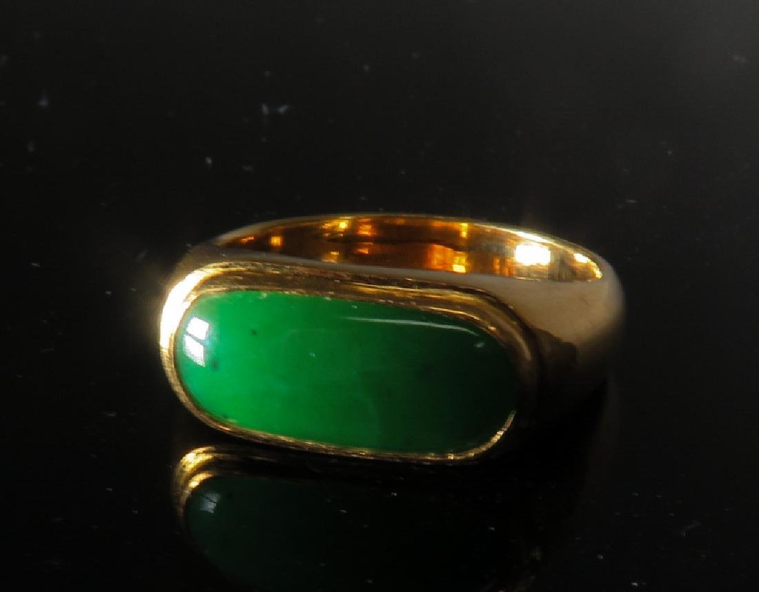 jadeite Ring in 24k Yellow Gold - 3