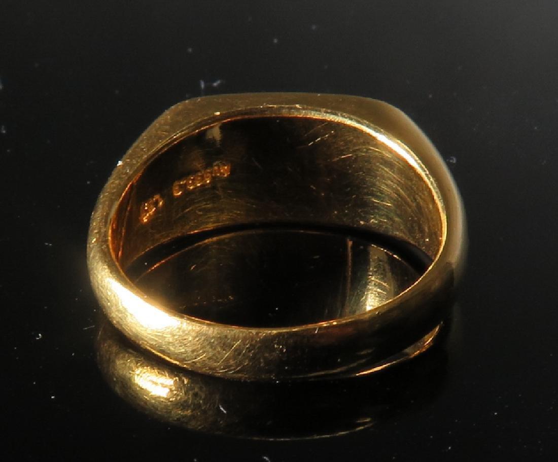 jadeite Ring in 24k Yellow Gold - 5