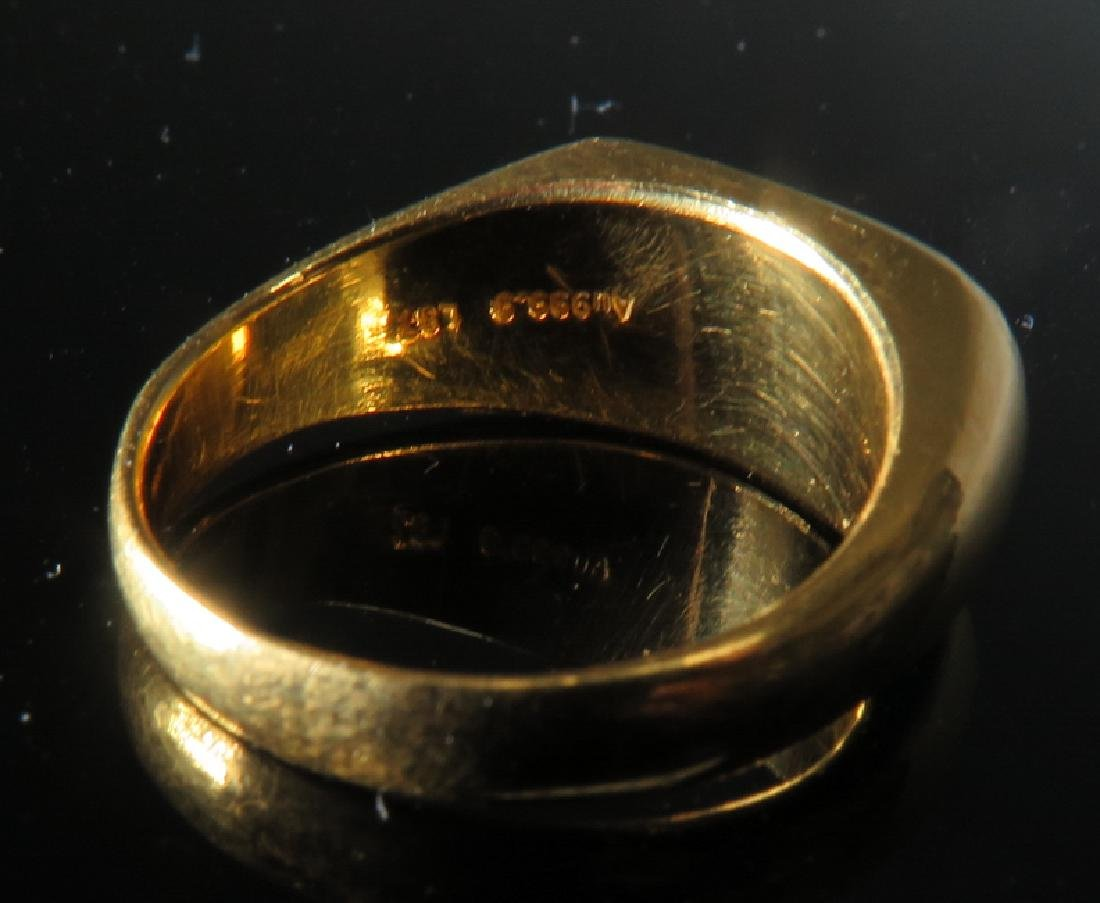 jadeite Ring in 24k Yellow Gold - 6