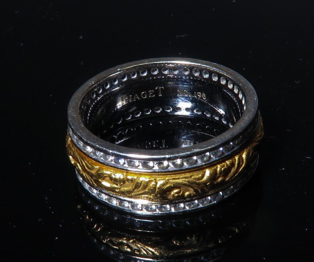Piaget Men's 14K TWO-TONE WHITE GOLD Ring - 3