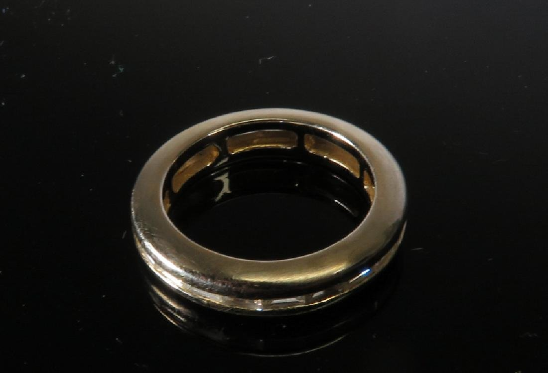 18k white gold diamonds ring - 2