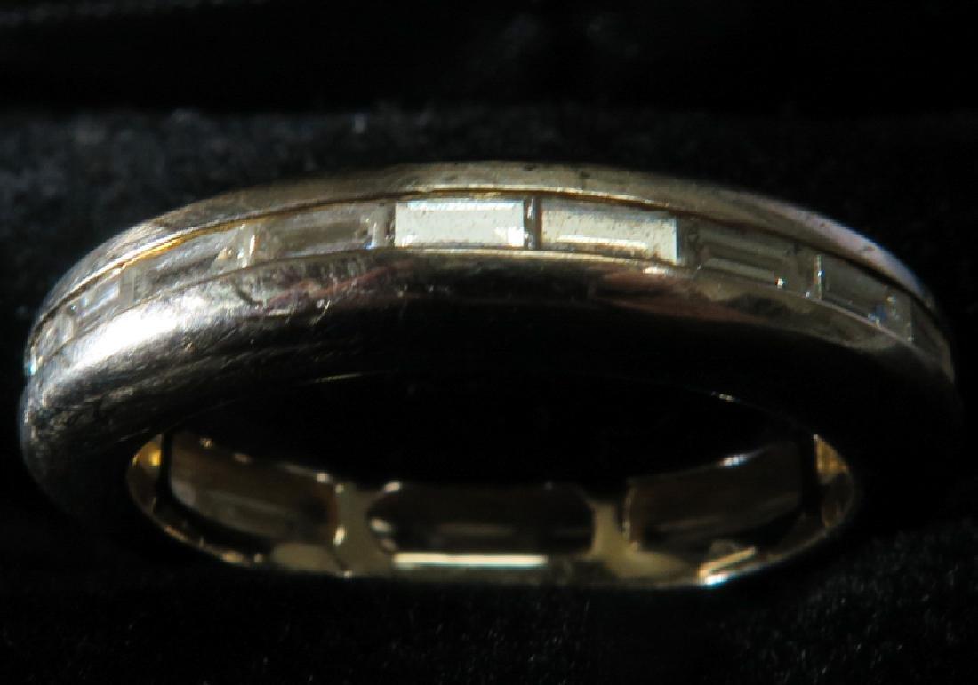 18k white gold diamonds ring - 5