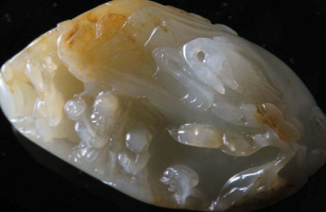 A carved white jade boulder - 2