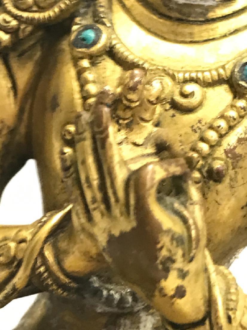 A gilt bronze figure of bodhisattva - 8