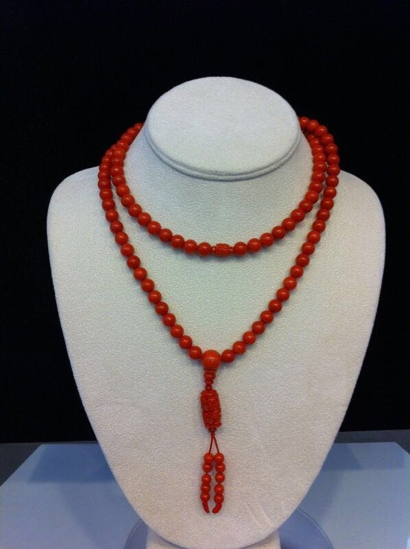 A prayer beads with red coral