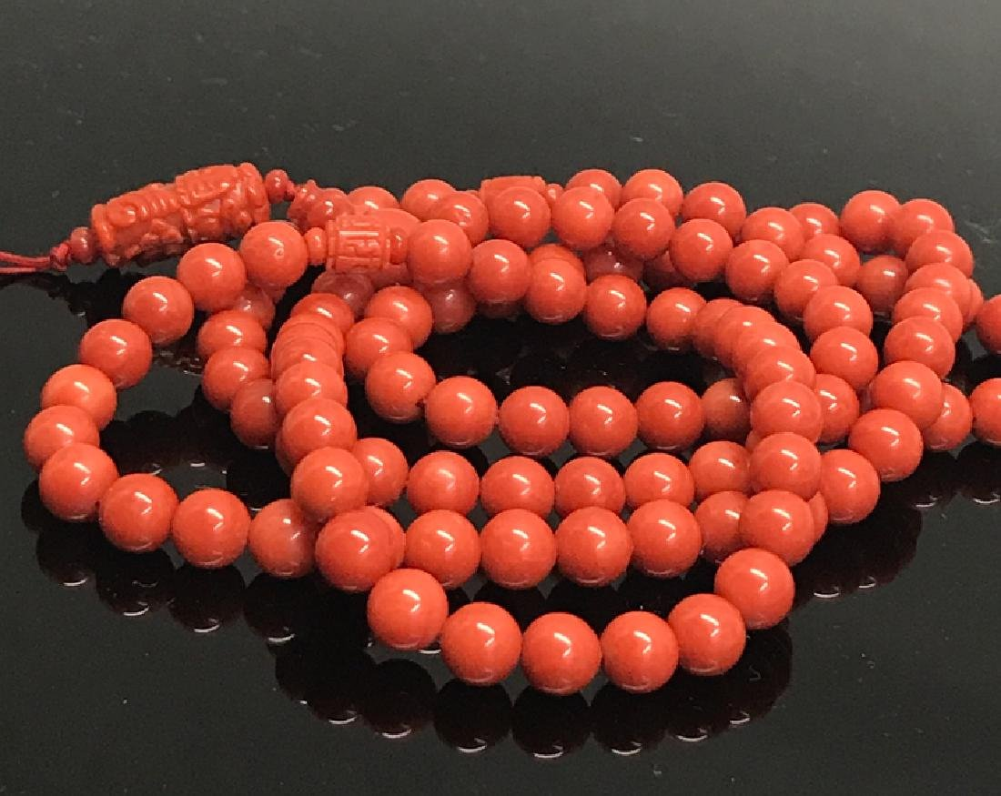 A prayer beads with red coral - 2