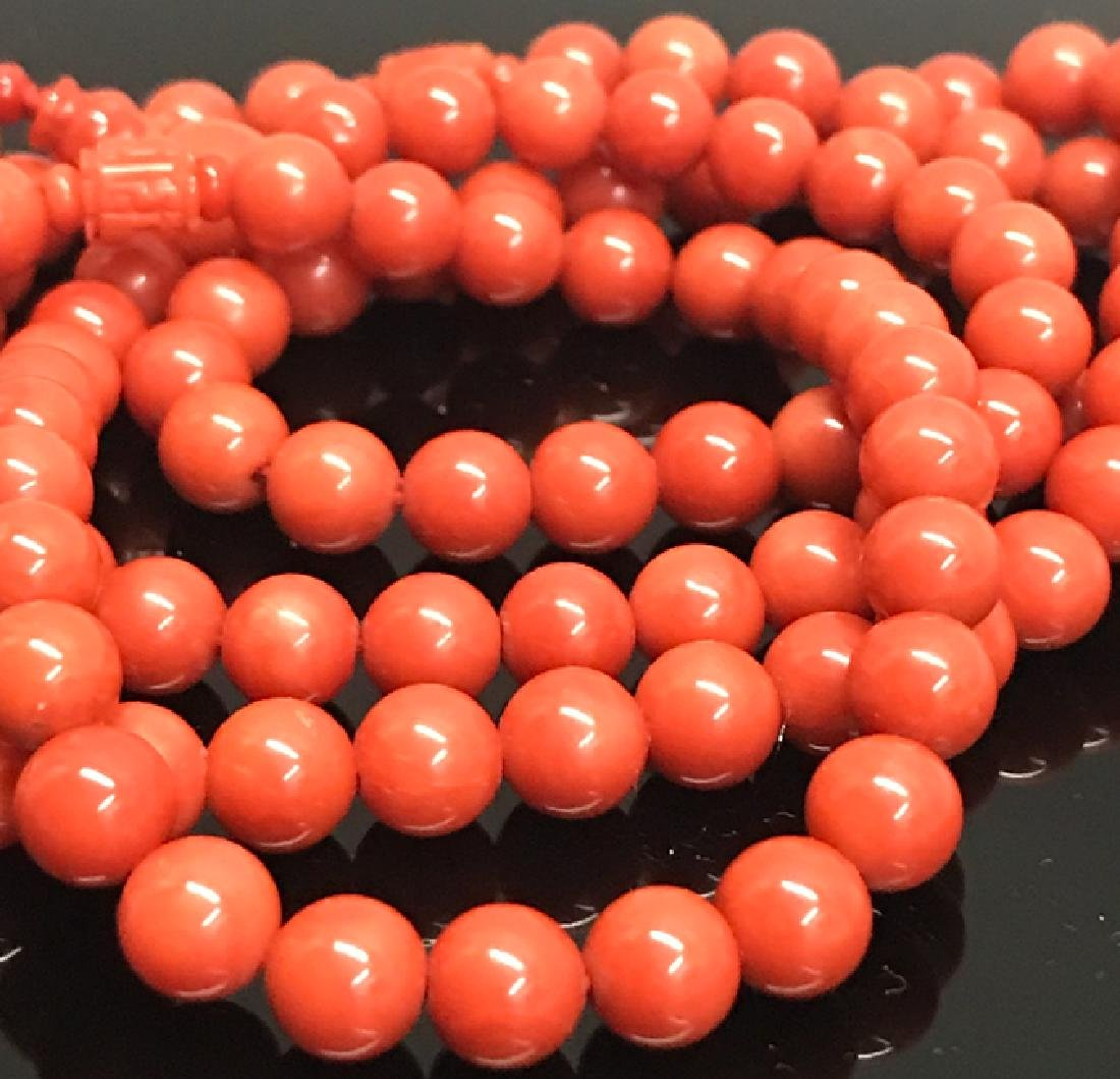 A prayer beads with red coral - 3