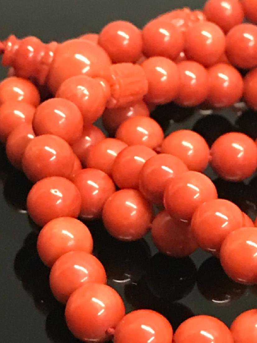 A prayer beads with red coral - 5