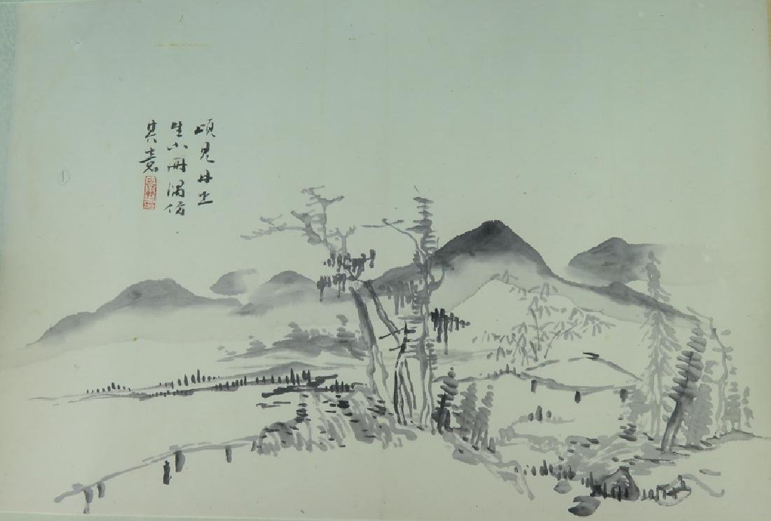 A ink on paper hand scroll