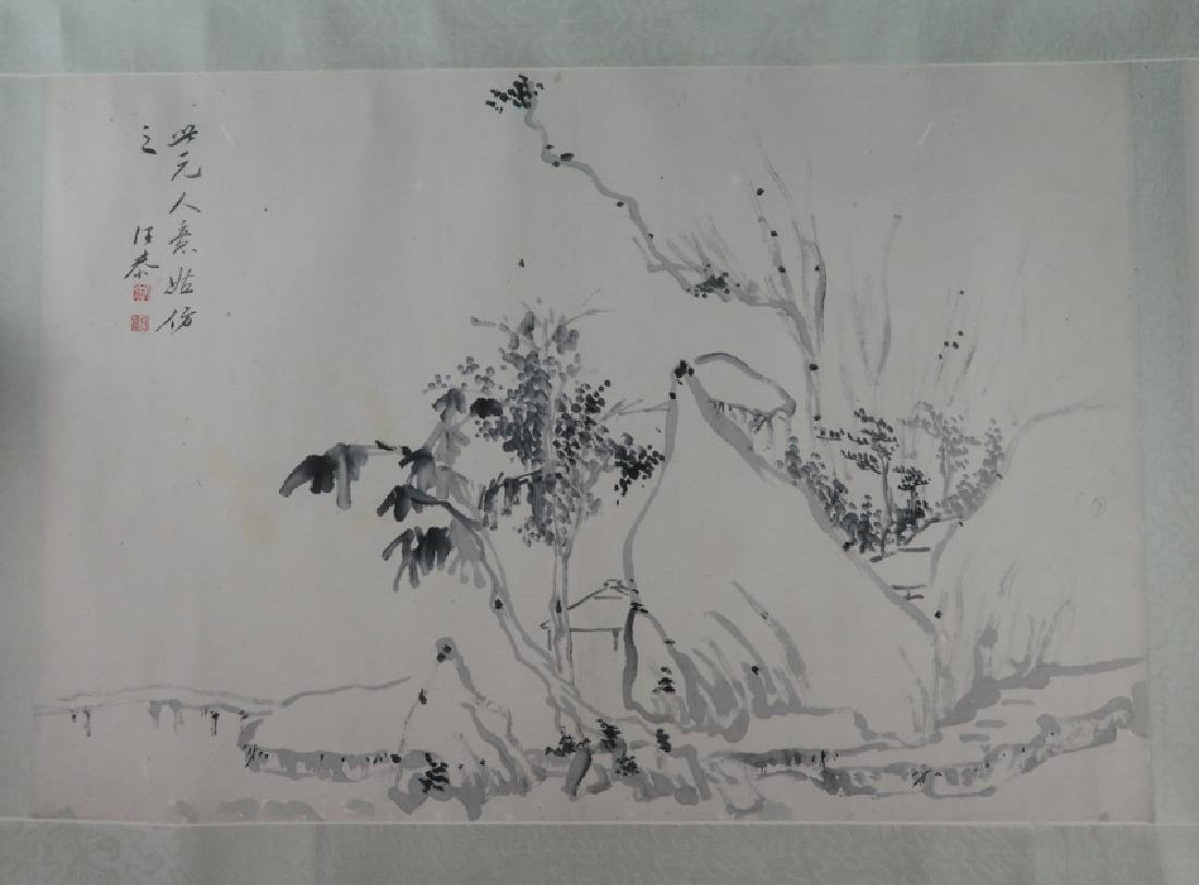 A ink on paper hand scroll - 8
