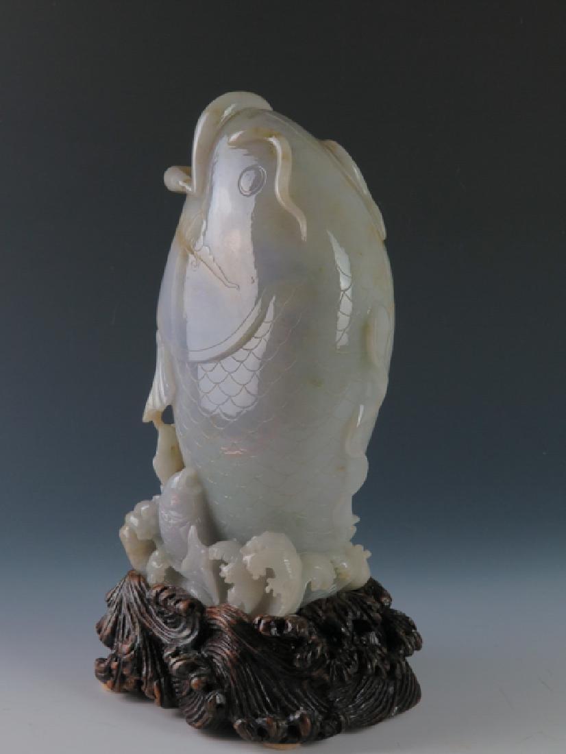A jadeite 'fish'vase - 2