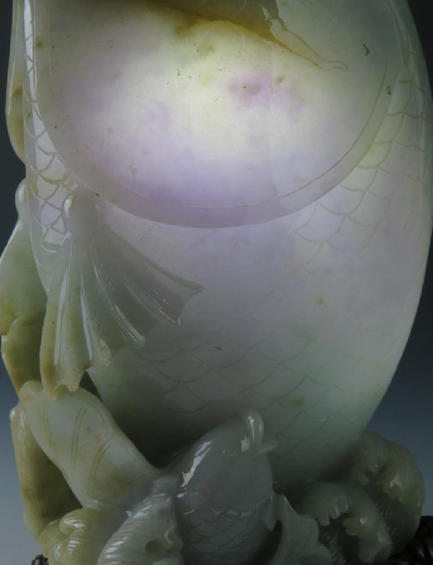 A jadeite 'fish'vase - 5