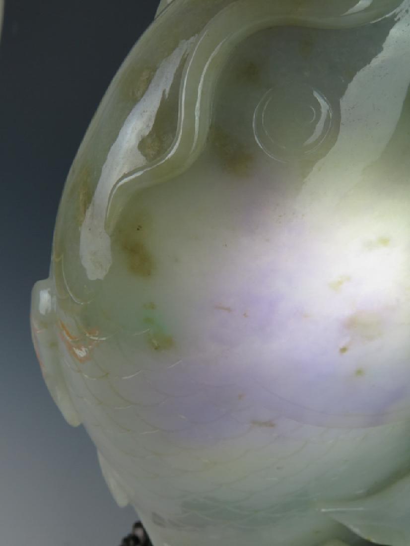 A jadeite 'fish'vase - 6