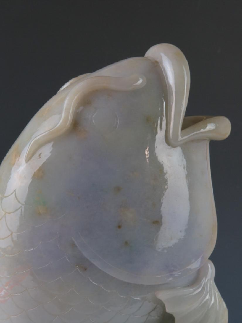 A jadeite 'fish'vase - 8