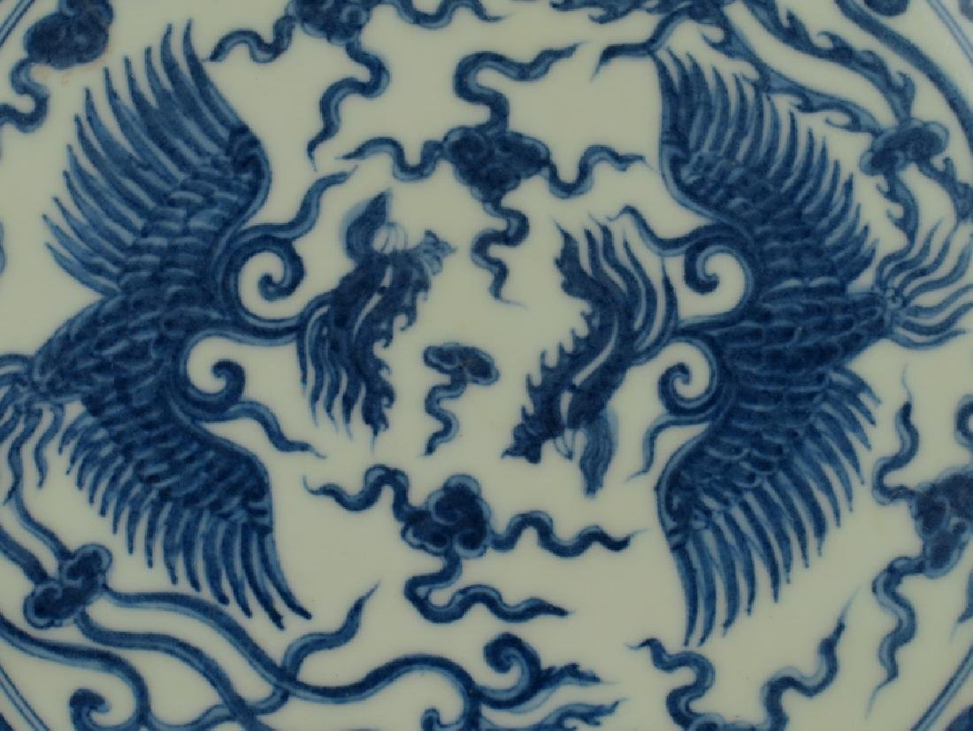 A blue and white plate - 2