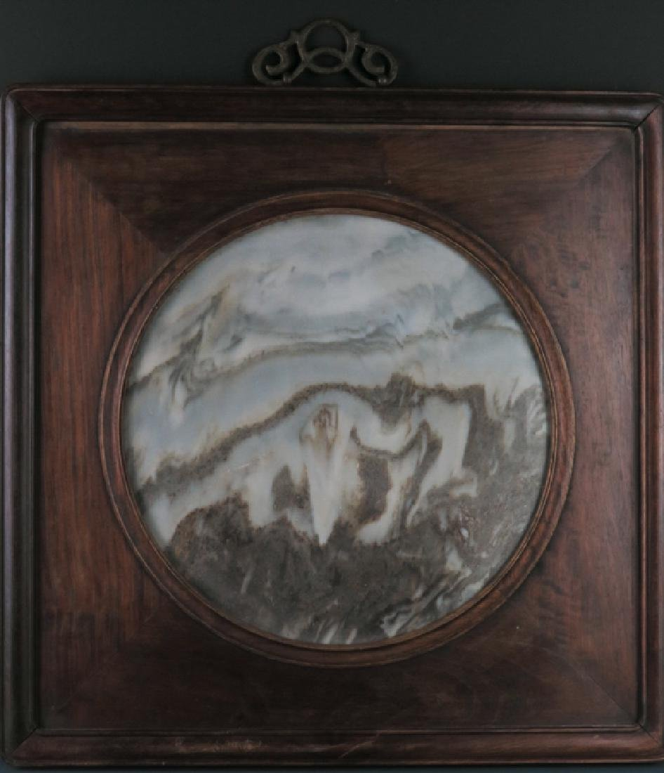 A marble 'lanscape'hanging screen