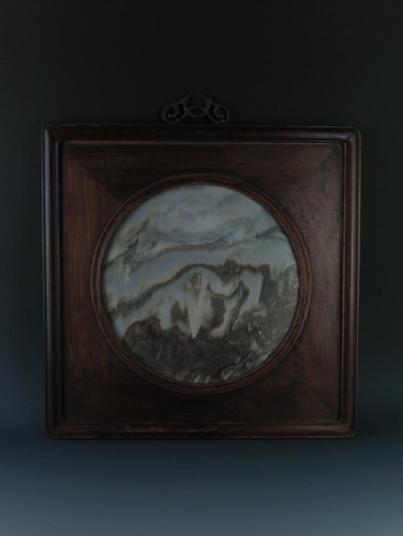 A marble 'lanscape'hanging screen - 3