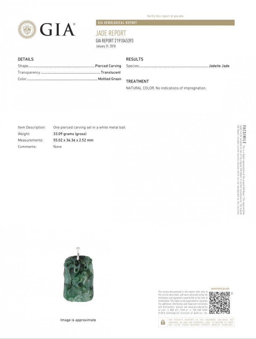 A jadeite pendant - 7